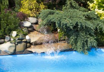 Swimming Pool water fall