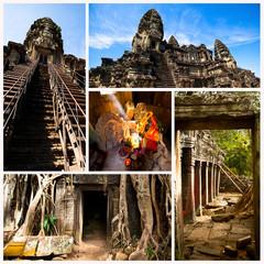 Collage, Angkor Wat, Cambodia.