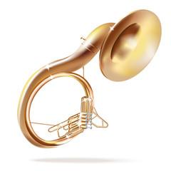 Classical sousaphone - Vector illustration