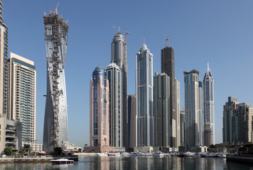 Skyscrapers in Dubai Marina, United Arab Emirates