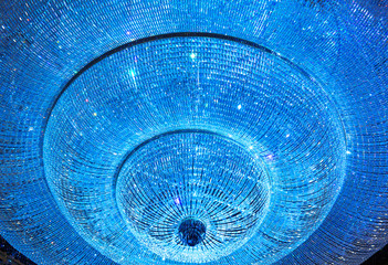 Shiny crystal chandelier