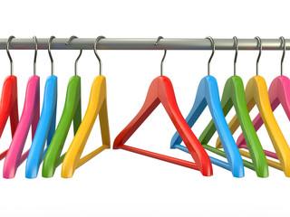 Clothes hangers. 3d