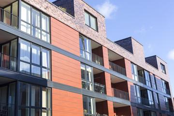 Moderne Stadthäuser in Kiel, Deutschland