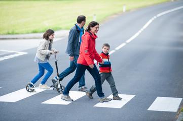 Family walk at the Crosswalk