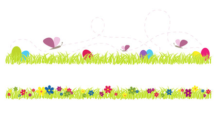 Easter and spring vector grass