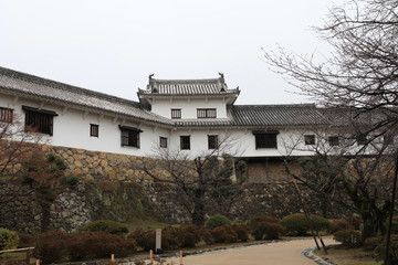 details of Structure of the Himeji Castle in Japan