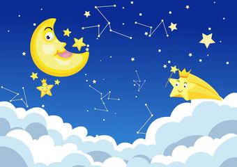 moon night background vector