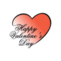 Happy Valentines Day background, gift car or greeting card.