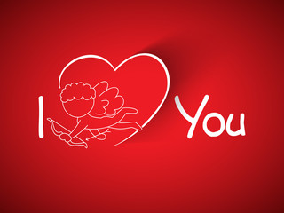 Valentines Day background, greeting card or gift card with cupid