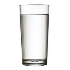 tall full glass of water isolated on white clipping path include