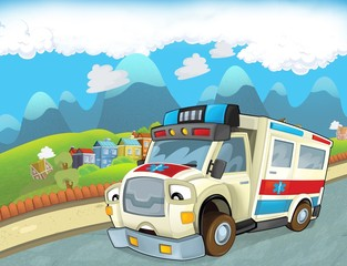 Printed roller blinds Cars The emergency unit - the ambulance