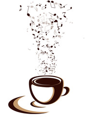 coffee cup with notes