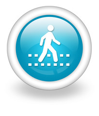 "Light Blue Icon ""Pedestrian Crossing"""