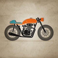 Fototapete - retro motorbike (canvas version)