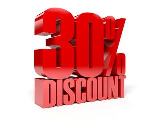 30 percent discount. Concept 3D illustration.