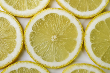 Food background - Sliced lemon