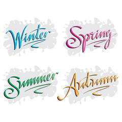 seasons inscriptions handlettering