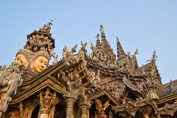 sanctuary of truth in Chonburi thailan