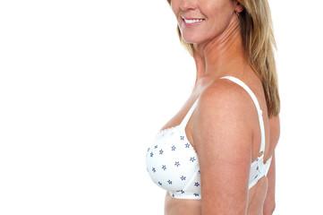 Hot bikini model, cropped image