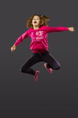 the girl jump
