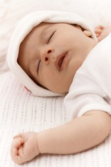 Closeup sleeping infant