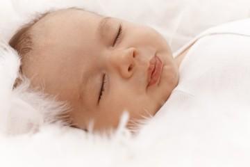 Closeup sleeping baby face