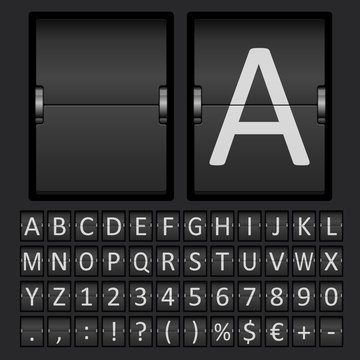 Scoreboard Letters and Numbers Alphabet
