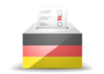 ballot box with flag
