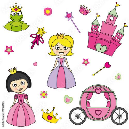 Princesas pegatinas habitaci n ni a im genes de archivo for Pegatinas habitacion nina