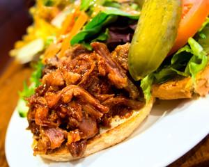 Pub Style Pulled Pork Sandwich