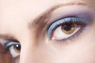 Beautiful woman eyes close up