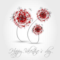 red valentine dandelion