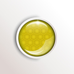 round honey button
