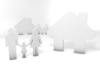 people and house