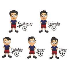 soccer formation cartoon