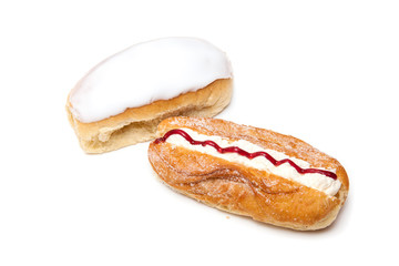 Iced bun's isolated on a white background.