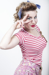 Beautiful pin-up girl