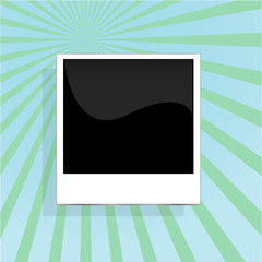 instant photos on abstract grunge background in retro style