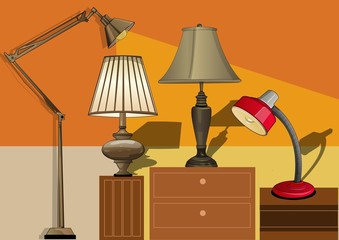 several table lamps
