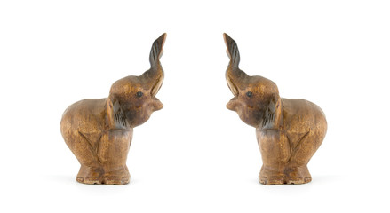 elephants isolated on a white background