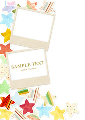 Background with photo and paper stars