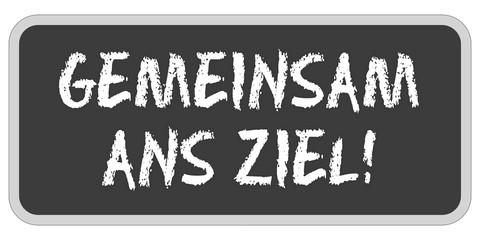 TF-Sticker eckig oc GEMEINSAM ANS ZIEL!