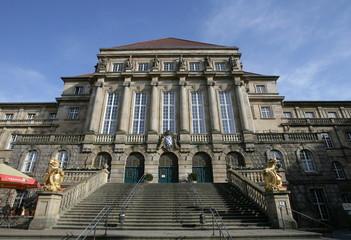 Das Rathaus von Kassel in der Oberen Koenigstrasse