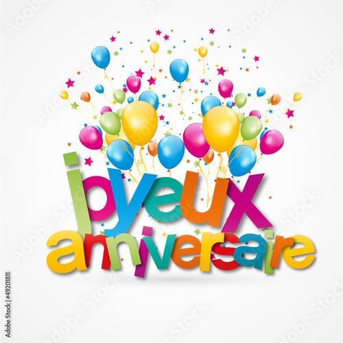 Joyeux anniversaire fichier vectoriel libre de droits sur la banque d 39 images - Clipart anniversaire gratuit telecharger ...