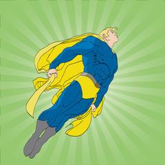 Fotobehang Superheroes Floating Superhero