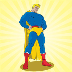 Canvas Prints Superheroes Posing Superhero