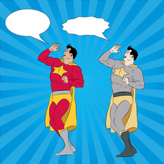 Canvas Prints Superheroes Calling Superhero