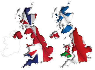 UK Flag-Map Inner Shadow