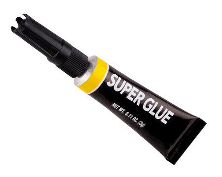 Isolated tube of super glue