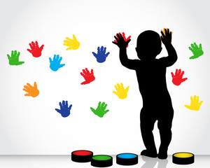 children's handprint